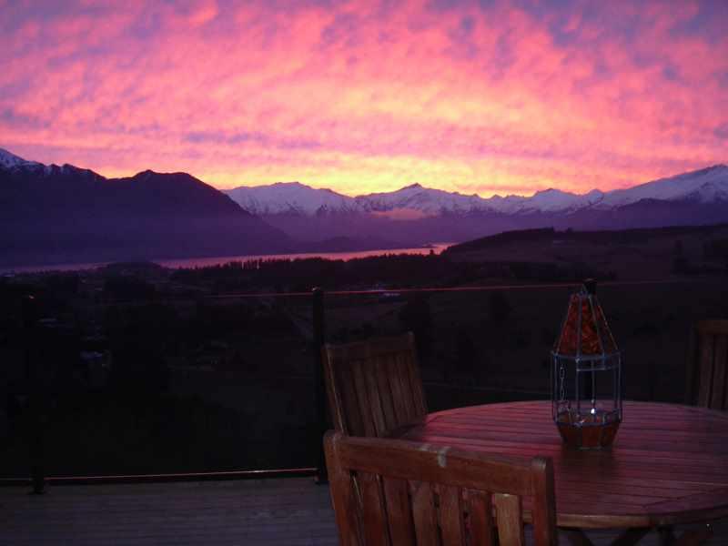 Wanaka sunset from Poppys