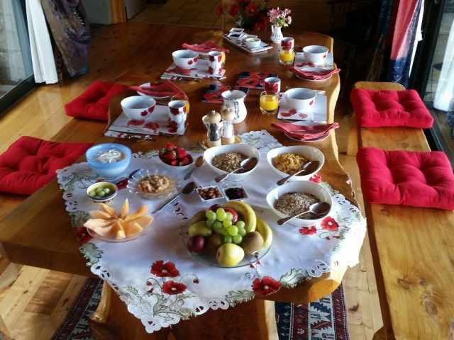 Poppy's breakfast area